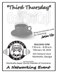 Third Thursday Coffee Call @ Bull Dog Gym | Monticello | Georgia | United States