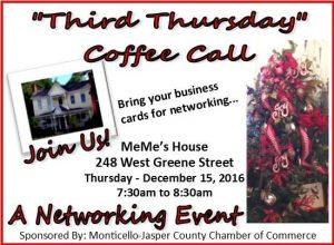 Third Thursday Coffee Call - MeMe's House @ MeMe's House | Monticello | Georgia | United States