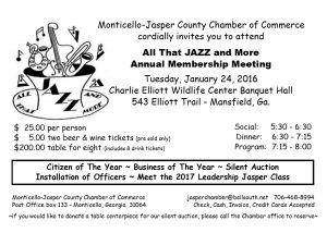 ALL THAT JAZZ ~ Annual Membership Meeting @ Charlie Elliott Wildlife Conference Center | Mansfield | Georgia | United States